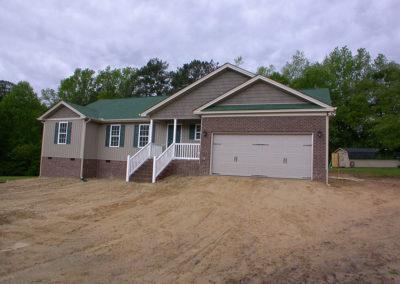 exterior of a custom built home