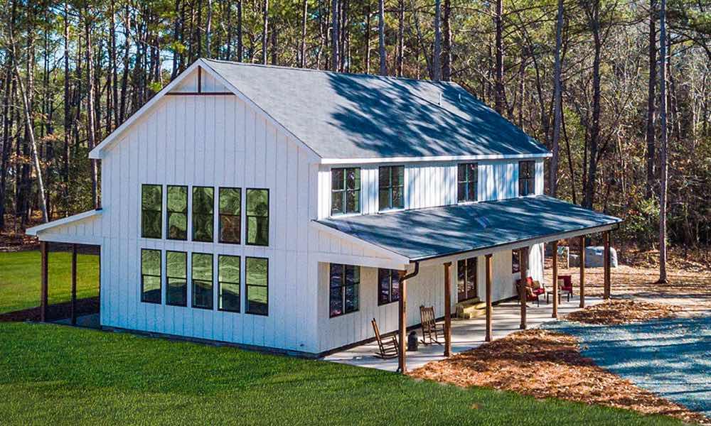 Exterior of custom home Farmhouse style